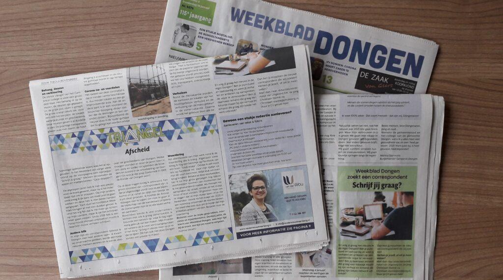 20210118TB Weekblad Dongen